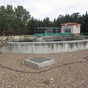 Decantador EDAR de Aqualia en Lobón (Badajoz) / Decanter of Aqualia  WWTP in Lobón (Badajoz)