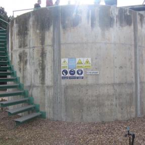 Espesador EDAR de Aqualia en Lobón (Badajoz) / Thickener of Aqualia WWTP in Lobón (Badajoz)