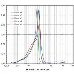 Superficie de adsorción cenizas acondicionadas / Fly ash pellets´ adsorption surface