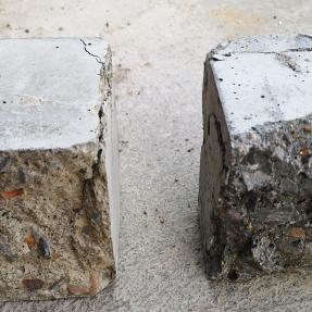 Hormigón convencional y hormigón con escorias de biomasa / Conventional concrete and biomass bottom ash concrete