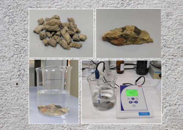 Ensayos de conformidad de lixiviación del hormigón con las cenizas volantes agregadas de biomasa /Conformity tests of leaching on concrete with added biomass fly ash
